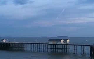 Flaming meteor crashes into sea in South Wales
