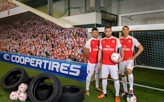 Arsenal players have skills tested to the limit in tyre test