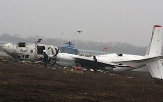Five killed as plane skids off runway and catches fire in Ukraine