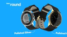 Pebble pinta el Time Round de plata y oro