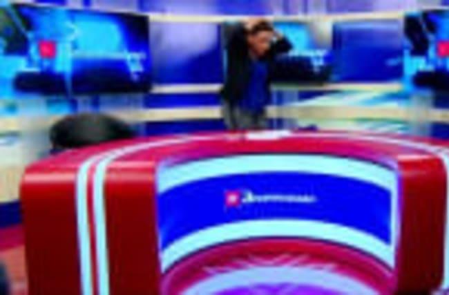 Georgian politicians fight on live TV
