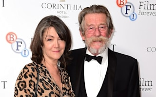 Sir John Hurt's widow: It will be a strange world without him