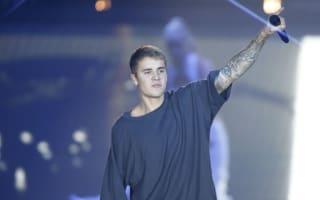 Justin Bieber scores at Barcelona training