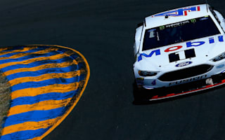 Harvick pulls away late to end winless drought