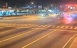 CCTV captures horrifying high-impact collision during police chase