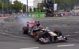 Video: Max Verstappen crashes F1 car at his public debut