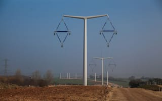 New T- pylon designed to make the English countryside prettier