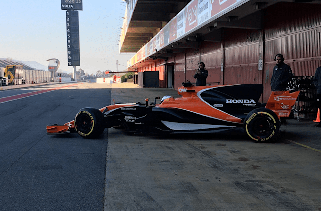Alonso gives new McLaren track debut in Barcelona