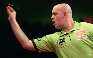 Van Gerwen tested, brutal Barney reaches last 16