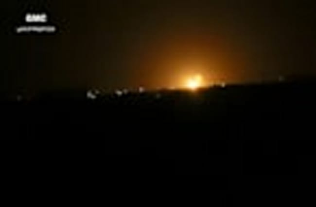Israel seen behind Damascus air strike