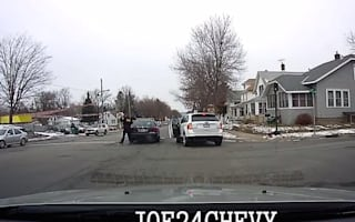 Police car crashes in high speed chase