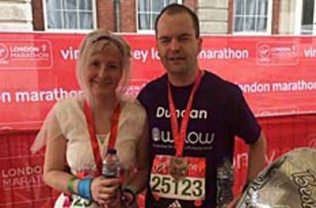 Why this woman ran the London Marathon in her wedding dress
