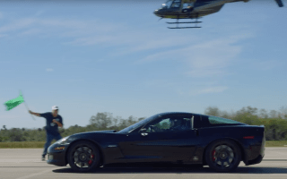 Corvette manages 209mph without using a drop of petrol