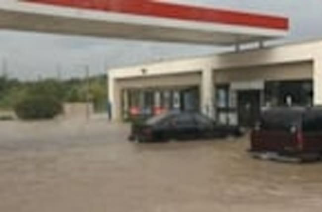 Bryan, Texas underwater