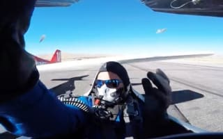 Pilot almost decapitated by plane wing smashing into cockpit