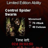 Vampire Wars Limited Ability: Control Spider Swarm