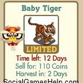FarmVille Baby Tiger Details