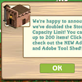 FarmVille doubles your storage capacity!