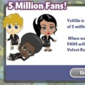YoVille 5 million fans reward -- a Black Velvet Robe
