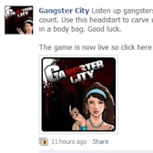 BREAKING NEWS - Playfish launches Gangster City