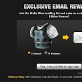 Mafia Wars Offers Big Reward for Your Email