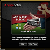 Play Zynga Poker for a free Mafia Wars sleeve gun