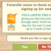 Free Fuel for FarmVille Email Users!