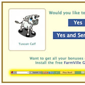New FarmVille Thank You Gift Option