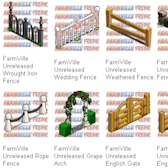 FarmVille Unreleased: Stylish new fences in ivy, wood, wire, stone and iron