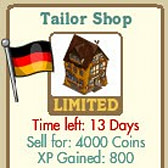 FarmVille German Themed Buildings: German Home & Tailor Shop