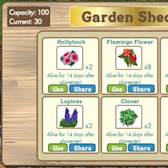 FarmVille increases Garden Shed storage capacity