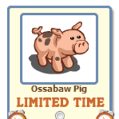 FarmVille Ossabaw Pig Giftable for a limited time