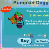 Happy Aquarium Pumpkin Doggie: Get one while they last!