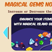 Shrink or grow your Happy Island decor with new Magic Gems