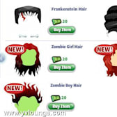 YoVille Halloween Hairstyles take costumes to the next level