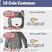 YoVille Werewolf Costume for 30 coins