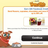 Earn 220 Facebook Credits in Happy Pets through ProFlowers promotion