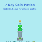 Increase your profits with the Happy Aquarium Coin Potion