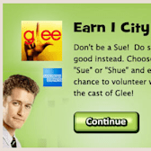 Social City: Watch Glee promote volunteerism in 'Don't Be a Sue' to get a free City Buck
