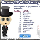 YoVille: Get Promoted with More Job Titles at the Factory