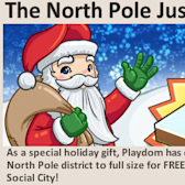 Social City North Pole expansion comes with homey winter buildings