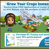 FarmVille's AVG promotion gives out Biplane and Instant Grow
