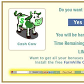 FarmVille Scam: No free Cash Cows are being given away