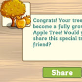 FarmVille Mystery Seedling can now grow into Golden Apple Tree
