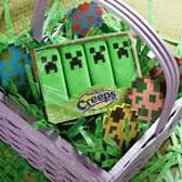 Put some Minecraft Marshmallow Creeps in your basket this Easter