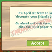 FarmVille Celebrates April Fools' Day with Toilet Paper!