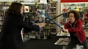 Daryl, a crazed fan, hopes to replace Cecil as Warren's friend, and the two engage in battle using toy weapons at a comic book store on 'Warren the Ape' (10:30PM ET on M...