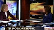 Rumors of Michele Bachmann's presidential ambitions have begun to swirl, and the Minnesota congresswoman did nothing to dispel them during an appearance 'On the Record W...