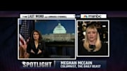 The Daily Beast columnist Meghan McCain was on 'The Last Word with Lawrence O'Donnell' (Wed., 8PM on MSNBC), where she and the host responded to GOP Congresswoman Michel...