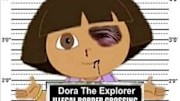  Dora the Explorer's mug shot isn't pretty. She's got a black eye, a bleeding lip, and is holding a sign listing her crimes. So, what has the little brown-haired cartoon ...